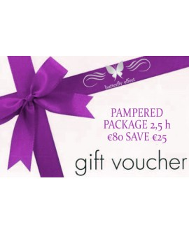 Gift Vouchers Butterfly Effect Beauty PAMPERED PACKAGE 2,5 h