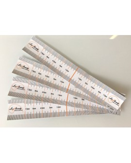 50PCS Disposable Eyebrow Design Ruler