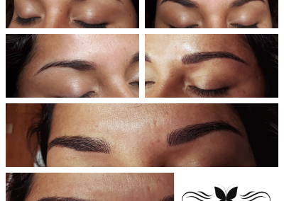 combo eyebrows microblading plus manual shading