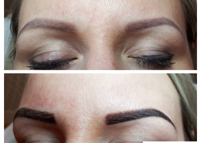 shading ombre eyebrows